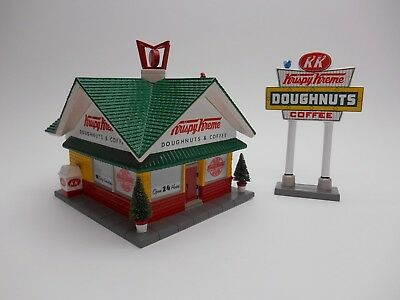 Snow Village Dept Department 56 Krispy Kreme Doughnut Shop