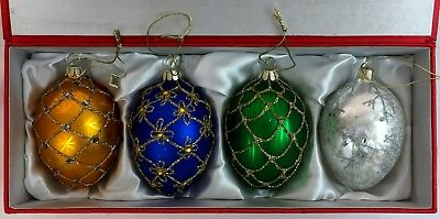Vintage 2006 Joan Rivers Classics Collection OF Russian Inspired Egg Ornaments