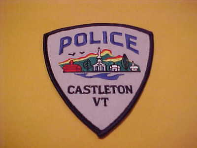 Castleton Vermont Police Patch Shoulder Size Unused