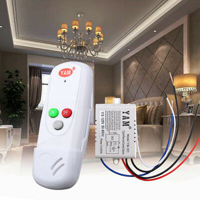 1-Way ON/OFF 110V Wireless Digital Receiver Lamp Light Remote Control Switch