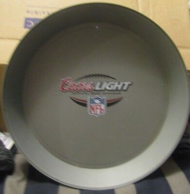 """Coors Light Official Beer Sponsor Nfl Plastic Serving Tray 13"""" Round 2"""" Deep"""