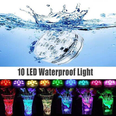 Underwater Light,ZOTO IP68 Submersible LED Light With Remote Control,Batter RGB