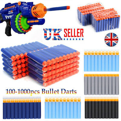 1000pcs Nerf Gun Soft Refill Bullets Darts Round Head Blasters For N-Strike Toys