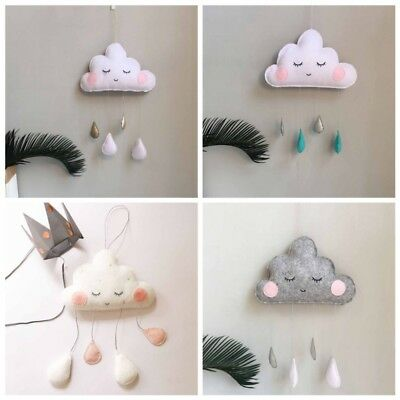 Baby Kids Room Nursery Home Cloud Raindrop Walls Mural Decor Stickers Decal