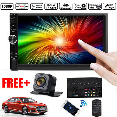 "2DIN 7"" HD Car Stereo Radio MP5 Player Bluetooth Touch Screen + Rear Camera NEW"
