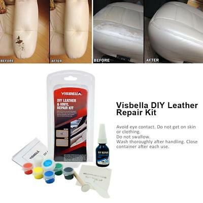 Leather Repair Kit Filler Professional Vinyl DIY Car Seats Sofa Jackets Patch