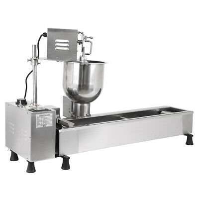 Automatic Donut Maker Making Machine Wide Oil Tank 3 Sets Free Mold