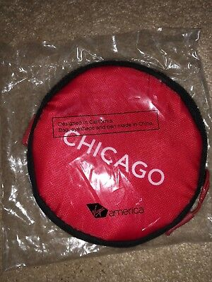 Virgin America Airlines Chicago Ord Vx First Class Pouch Eye Mask Brand New