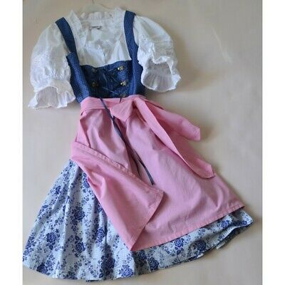 ABITO STILE TIROLESE GREMBIULE CAMICIA tg. 40 Angermaier Dirndl