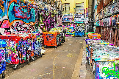 Street Art  graffiti Large 2 sizes A1 A2 Poster melbourne canvas painting