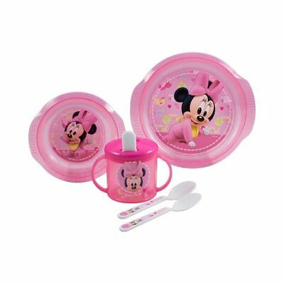 BABY-WALZ 5tlg. Esslern-Set Minnie Mouse Babygeschirr NEU Minnie Mouse
