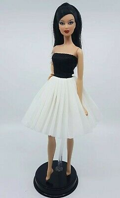 New Barbie doll clothes outfit princess  cocktail ballet dress black white