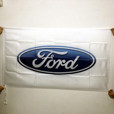 FORD AUTOMOTIVE LOGO FLAG BANNER 3X5 ft Man Cave Garage Car Race Dad Flat
