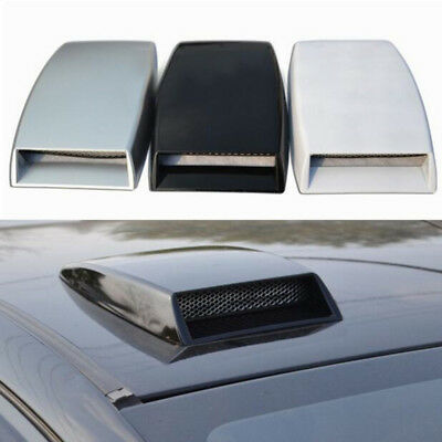 25*15cm Car Auto Roof Decor Air Flow Intake Hood Scoop Vent Bonnet Cover Black