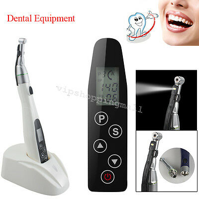 Dental LED Wireless 16:1 Reduction Contra Angle Endo Motor Root Canal Treatment