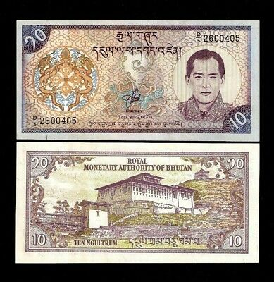 Bhutan 10 Ngultrum P22 2000 Bundle Millennium Unc Lot Dzong Pack X 100 Pcs Note