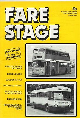 Bus Fayre ( Fare Stage) Magazine July - August 1981 Volume 4