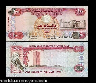 United Arab Emirates 100 Dirhams P23 A 1998 Sparrowhawk Unc Uae Money Gulf Note