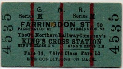 Great Northern Railway Ticket Farringdon St. to King's Cross