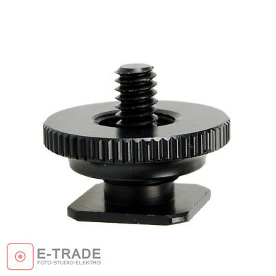 "1/4"" Tripod Mount Screw to Flash Hot Shoe Adapter for Canon Nikon & Light Stand"