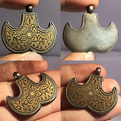 Old Ottoman Empire Circa 15 Ad  23K Gold  Covered By Pure Silver Pendant # Sh582