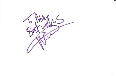 Vyelle Croom Actor signed white card dedicated in person autograph Z2940