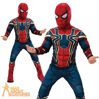 Child Deluxe Iron Spider Infinity War Costume Superhero Fancy Dress Outfit Kids