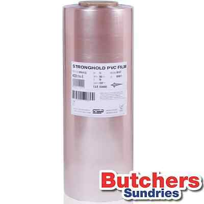 Butchers-Sundries 18'' Clear PVC Meat And Food Wrap 450mm x 1500m Per Roll