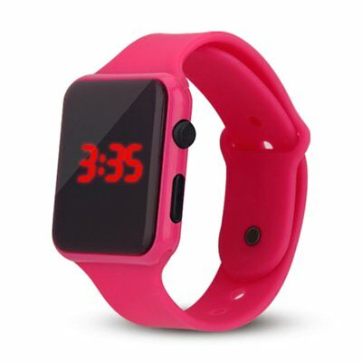 Pink Square Digital Wristwatch Sports LED Display Watch Women's Men's Casual