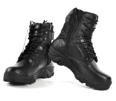 YongWing Men's Soft Toe Side Zip Security Tactical Leather Boots-Stock Clearance