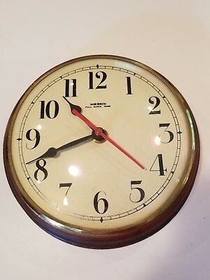 """Vintage Wuersch Small Wood Wall Clock 8"""" - Good Condition"""