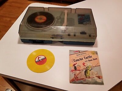 Ertl Vanity Fair Musictime Turntable & Cassette Player~Vintage~Rare with Records