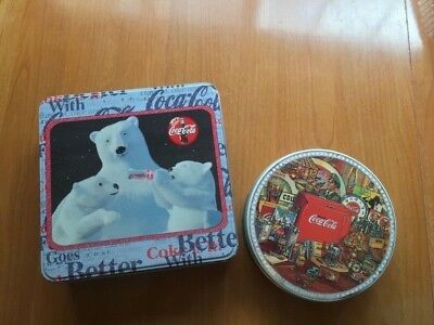 Two Coca-Cola tins: Polar Bear and The Early Years