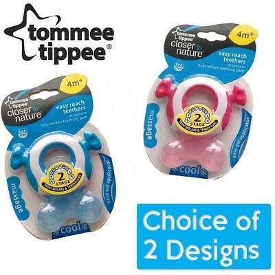 Tommee Tippee Closer To Nature Easy Reach Teether Stage 2 CHOICE OF COLOUR (A47)