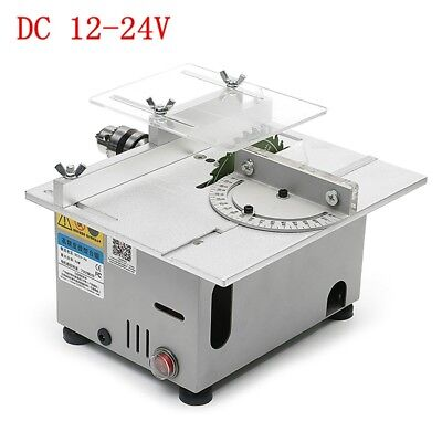 Mini Precision Bench Table Saw Blade DIY Woodworking Cutting Machine 12-24V NEW