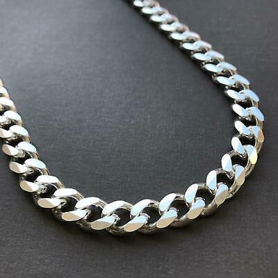 11mm Men Miami Hiphop Chunky Chain Necklace 925 Sterling Silver 20 Inch 100GR