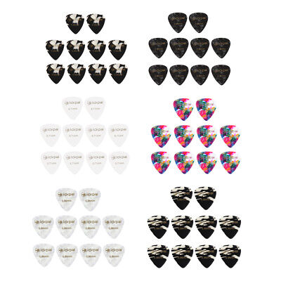 10 Pcs of Pack Guitar /Bass/ Ukulele Plectrum Pick Set for Musical Lovers