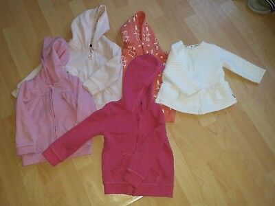 GEORGE and Junior J baby girl bundle of 5 pink summer light jackets, 12-18 month