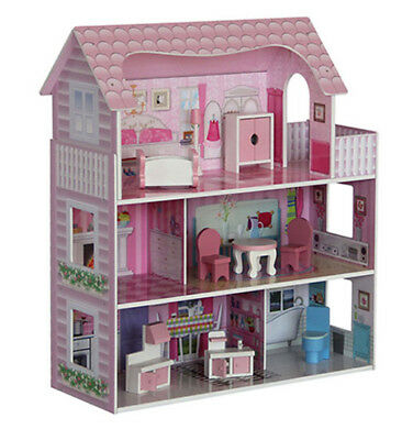 Wooden Dolls House with accessories