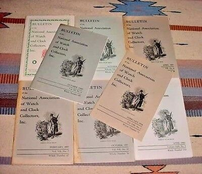 Lot Of 8 Vintage Bulletin Nat. Assoc. Watch And Clock Collectors 1957 - 1968