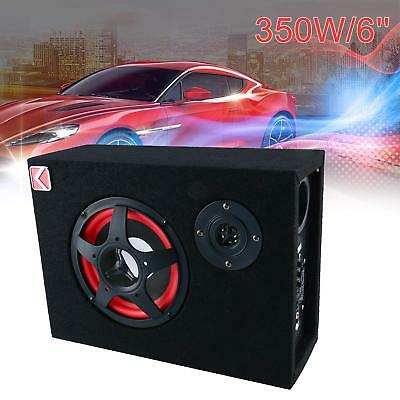 6'' 350W Under-Seat Car Active Subwoofer Speaker Stereo Bass Audio Powered Amp
