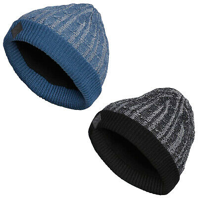 0fe59cc0a026f Adidas Mens Cable Knit Beanie Hat - One Size Winter Warm Thermal Woolly Golf