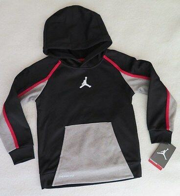 Jordan Little Boys' AJ Victory Therma-FIT Black Hoodie - Size 6 - NWT