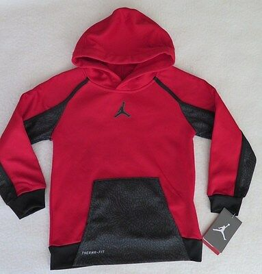 Jordan Little Boys' AJ Victory Therma-FIT Red Hoodie - Size 6 - NWT