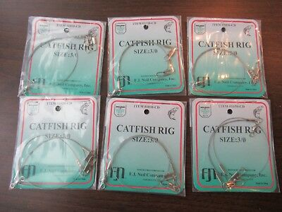 6 Catfish Bullhead Hornpout Bottom Fishing Rigs Blue Channel Cat Red Fish Rig