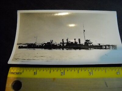 USS Hull DD-330 Destroyer Ship Vintage Real Photograph