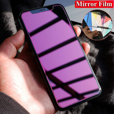 9H HD Tempered Glass Mirror Film Guard for iPhone Xs Max/XR/X 8 Screen Protector