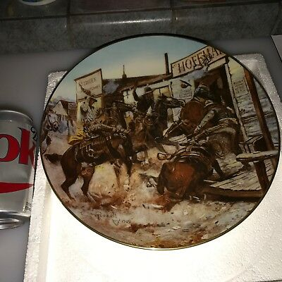 1981 GORHAM In Without Knocking WILDWEST 2nd in Series Limied Ed PLATE w/ BOX e