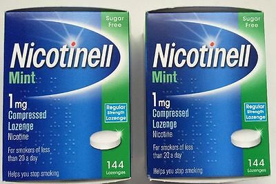 NICOTINELL Mint 1mg / 2mg Compressed Lozenges X 288 ( Choose Strength )