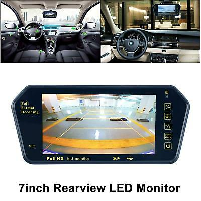 "7"" LCD Mirror Monitor+Wireless Car Rear View Backup Camera DVR Cam Night Vision"